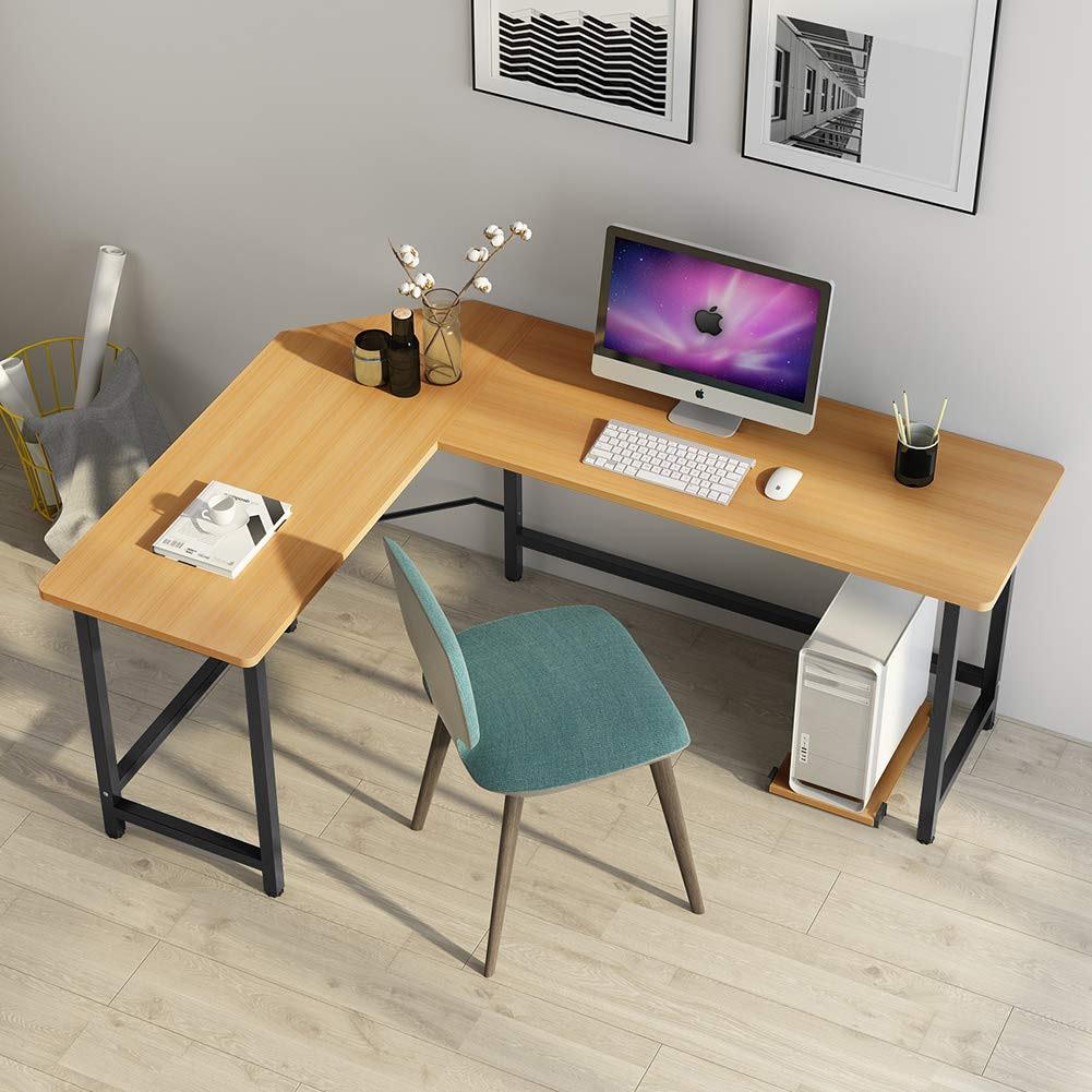 Tribesigns Modern L shaped Gaming Desk